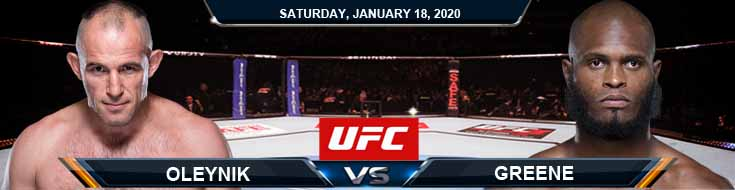 UFC 246 Alexey Oleynik vs Maurice Greene 01-18-2020 Previews Picks and Predictions