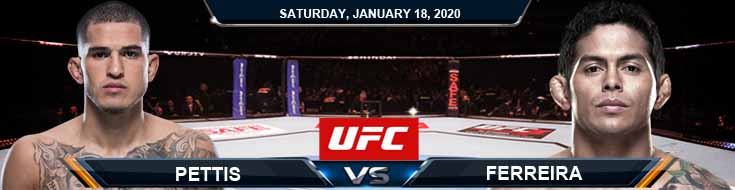 UFC 246 Anthony Pettis vs Carlos Diego Ferreira 01-18-2020 Previews Predictions and Betting Odds