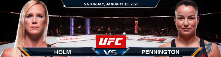 UFC 246 Holly Holm vs Raquel Pennington 01-18-2020 Odds Predictions and Previews