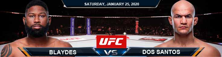 UFC Fight Night 166 Blaydes vs Dos Santos 01-25-2020 Picks Predictions and Previews