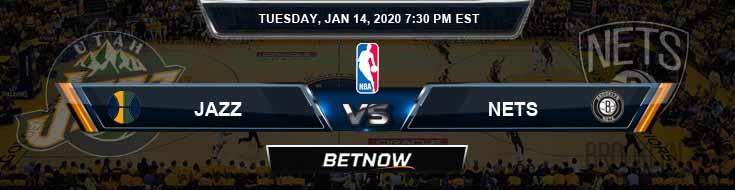 Utah Jazz vs Brooklyn Nets 1-14-2020 Spread Picks and Game Analysis