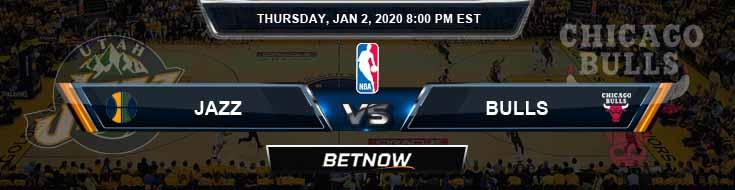 Utah Jazz vs Chicago Bulls 1-2-2020 NBA Picks and Game Analysis