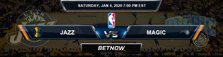 Utah Jazz vs Orlando Magic 1-4-2020 NBA Odds and Game Analysis