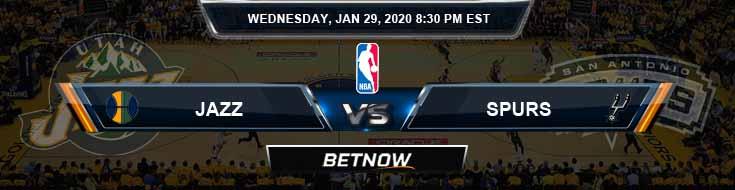 Utah Jazz vs San Antonio Spurs 1-29-2020 Spread Picks and Prediction