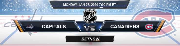 Washington Capitals vs Montreal Canadiens 01-27-2020 Predictions NHL Odds and Betting Picks
