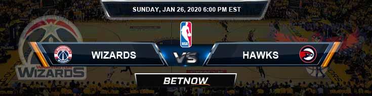 Washington Wizards vs Atlanta Hawks 1-26-2020 Odds Picks and Previews