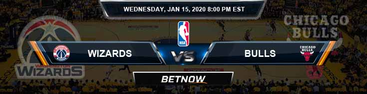 Washington Wizards vs Chicago Bulls 1-15-2020 Odds Picks and Previews
