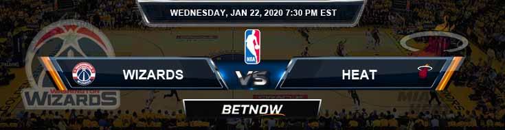 Washington Wizards vs Miami Heat 1-22-2020 Spread Picks and Previews