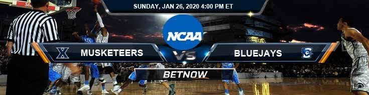 Xavier Musketeers vs Creighton Bluejays 1-26-2020 Game Analysis Odds and Picks