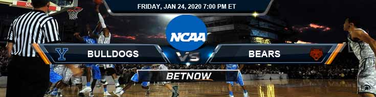 Yale Bulldogs vs Brown Bears 1/24/2020 Odds, Picks and Previews