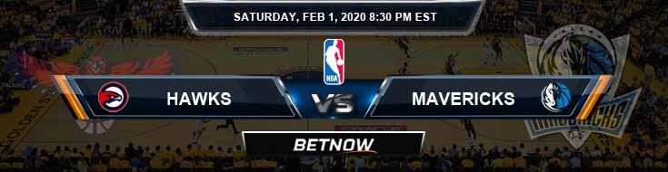 Atlanta Hawks vs Dallas Mavericks 2-1-2020 Spread Picks and Previews