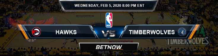 Atlanta Hawks vs Minnesota Timberwolves 02-05-2020 Odds Picks and Previews