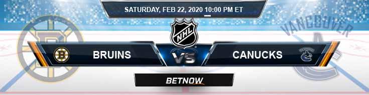 Boston Bruins vs Vancouver Canucks 02-22-2020 NHL Previews Game Analysis and Betting Picks