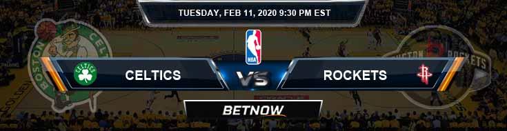 Boston Celtics vs Houston Rockets 02-11-2020 Spread Picks and Previews