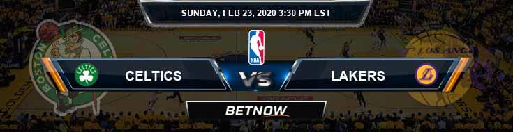Boston Celtics vs Los Angeles Lakers 2-23-2020 NBA Picks and Previews