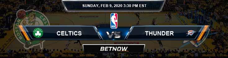 Boston Celtics vs Oklahoma City Thunder 02-09-2020 Spread Odds and Picks