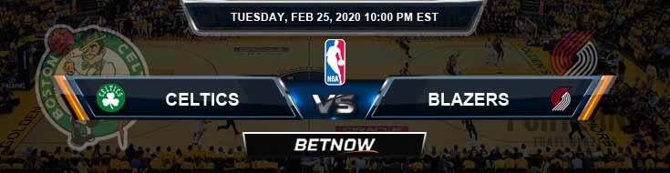 Boston Celtics vs Portland Trail Blazers 2-25-2020 NBA Odds and Picks
