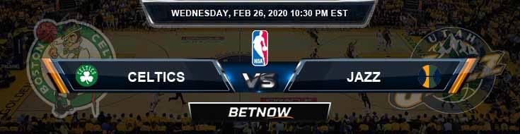 Boston Celtics vs Utah Jazz 2-26-2020 NBA Picks and Game Analysis