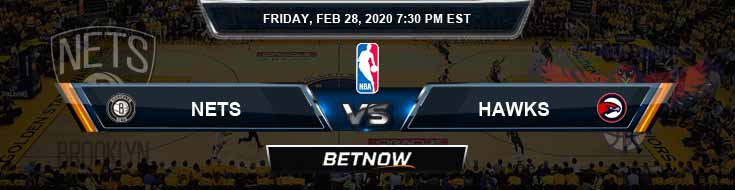 Brooklyn Nets vs Atlanta Hawks 2-28-2020 Spread Picks and Previews