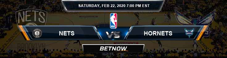 Brooklyn Nets vs Charlotte Hornets 2-22-2020 Odds Picks and Previews
