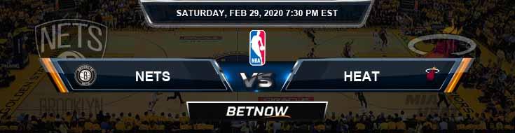 Brooklyn Nets vs Miami Heat 2-29-2020 Previews Picks and Prediction