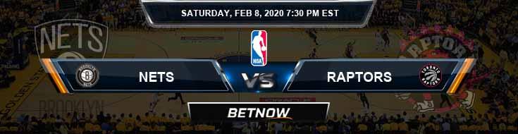 Brooklyn Nets vs Toronto Raptors 2-8-2020 Spread Picks and Prediction