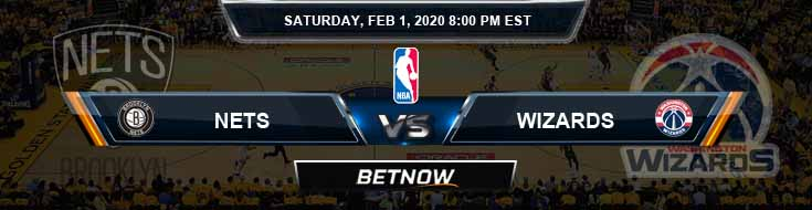 Brooklyn Nets vs Washington Wizards 2-1-2020 Odds Spread and Prediction