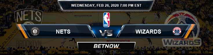 Brooklyn Nets vs Washington Wizards 2-26-2020 NBA Picks and Previews