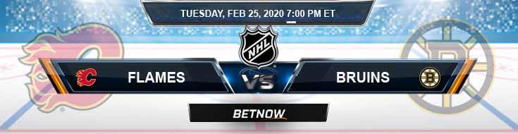 Calgary Flames vs Boston Bruins 02-25-2020 NHL Predictions Spread and Picks