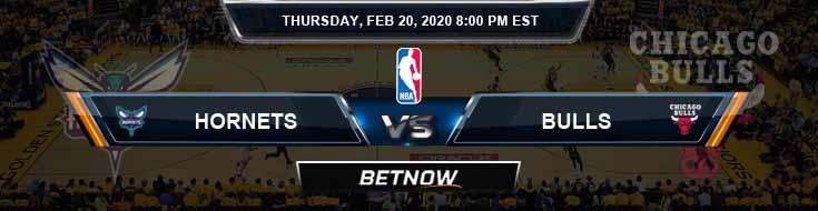 Charlotte Hornets vs Chicago Bulls 02-20-2020 Spread Picks and Previews
