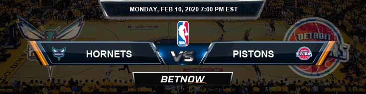 Charlotte Hornets vs Detroit Pistons 02-10-2020 Odds Picks and Previews