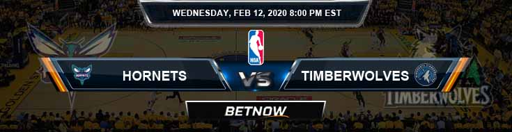 Charlotte Hornets vs Minnesota Timberwolves 2-12-2020 NBA Odds and Picks
