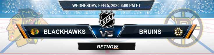 Chicago Blackhawks vs Boston Bruins 02-05-2020 Spread Betting Predictions and NHL Picks