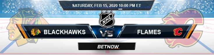 Chicago Blackhawks vs Calgary Flames 02-15-2020 NHL Picks Betting Odds and Predictions