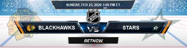 Chicago Blackhawks vs Dallas Stars 02-23-2020 Predictions NHL Odds and Betting Spread