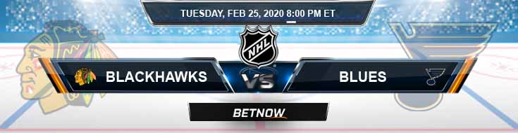 Chicago Blackhawks vs St. Louis Blues 02-25-2020 Preview NHL Predictions and Betting Picks