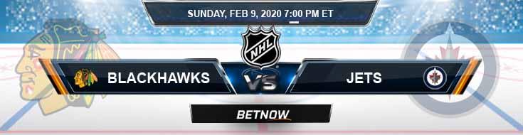 Chicago Blackhawks vs Winnipeg Jets 02-09-2020 NHL Predictions Betting Odds and Picks