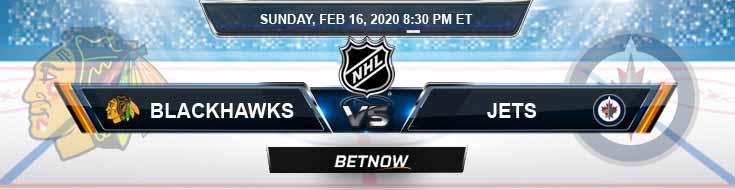 Chicago Blackhawks vs Winnipeg Jets 02-16-2020 Picks NHL Predictions and Betting Odds