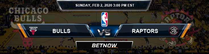 Chicago Bulls vs Toronto Raptors 2-2-2020 Spread Picks and Prediction