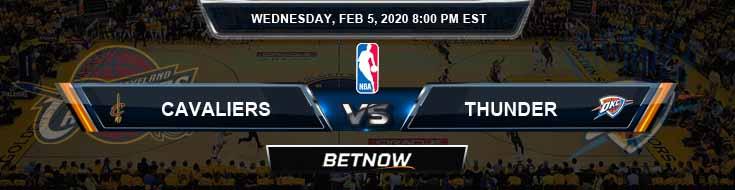 Cleveland Cavaliers vs Oklahoma City Thunder 02-05-2020 NBA Odds and Picks
