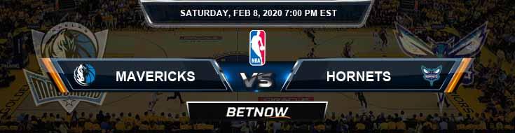 Dallas Mavericks vs Charlotte Hornets 2-8-2020 Odds Picks and Previews
