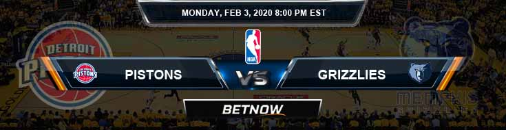 Detroit Pistons vs Memphis Grizzlies 2-3-2020 Odds Picks and Previews