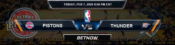 Detroit Pistons vs Oklahoma City Thunder 2-7-2020 NBA Spread and Picks
