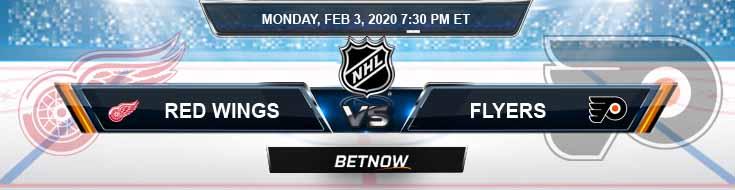 Detroit Red Wings vs Philadelphia Flyers 02-03-2020 NHL Picks Betting Odds and Predictions