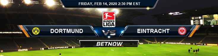Dortmund vs Eintracht Frankfurt 02-14-2020 Spread Soccer Odds and Preview