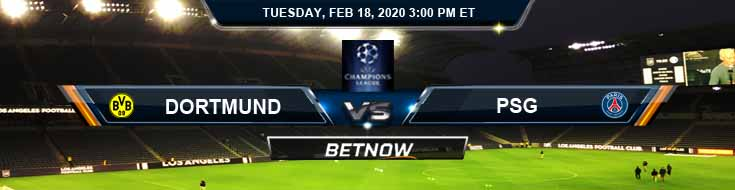 Dortmund vs PSG 02-18-2020 Betting Spread Soccer Picks and Preview