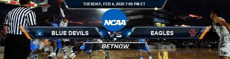 Duke Blue Devils vs Boston College Eagles 2/4/2020 Picks, Predictions and Preview