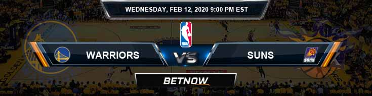 Golden State Warriors vs Phoenix Suns 2-12-2020 Spread Picks and Previews