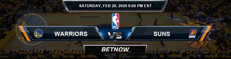 Golden State Warriors vs Phoenix Suns 2-29-2020 Odds Picks and Previews