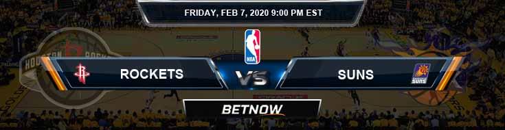 Houston Rockets vs Phoenix Suns 2-7-2020 Spread Picks and Prediction